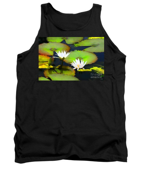Lily Pond Bristol Rhode Island Tank Top by Tom Prendergast
