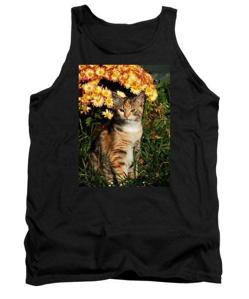Lily With Harvest Mums Tank Top by VLee Watson