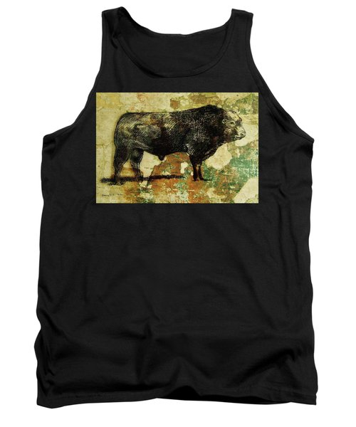 French Limousine Bull 11 Tank Top by Larry Campbell