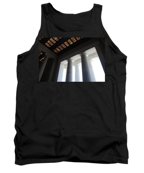 Lincoln Stained Glass And Columns Tank Top