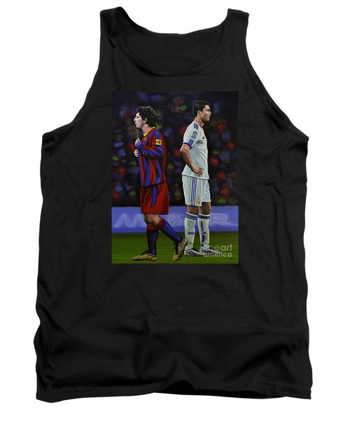 Lionel Messi And Cristiano Ronaldo Tank Top by Paul Meijering