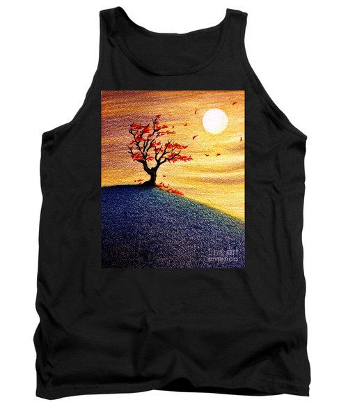 Little Autumn Tree Tank Top by Danielle R T Haney