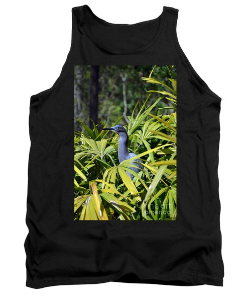 Tank Top featuring the photograph Little Blue Heron by Robert Meanor