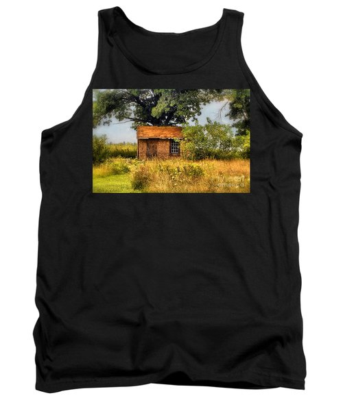 Tank Top featuring the photograph Little House On The Prairie by Peggy Franz