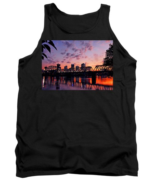 Little Rock Bridge Sunset Tank Top