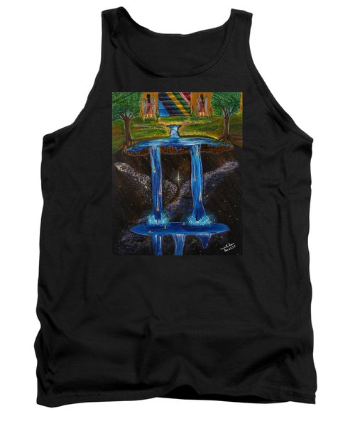 Tank Top featuring the painting Living Water by Cassie Sears
