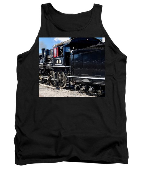 Tank Top featuring the photograph Locomotive With Tender by Gunter Nezhoda