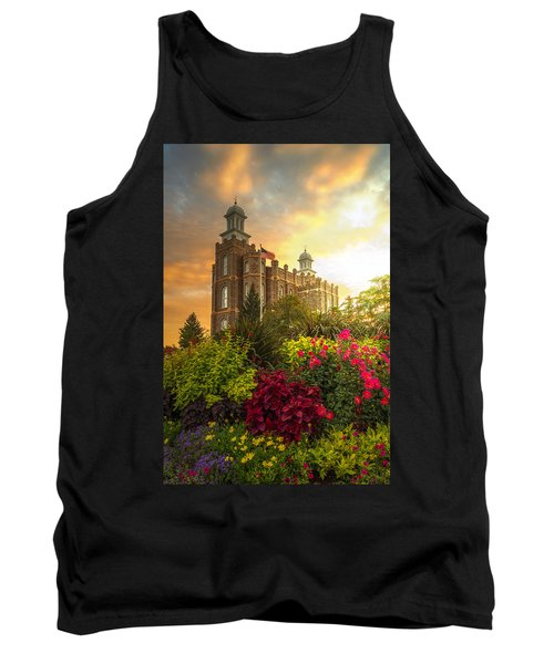 Tank Top featuring the photograph Logan Temple Garden by Dustin  LeFevre