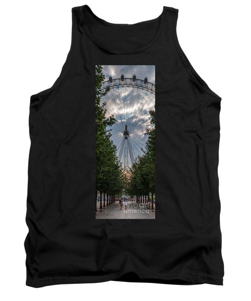 London Eye Vertical Panorama Tank Top