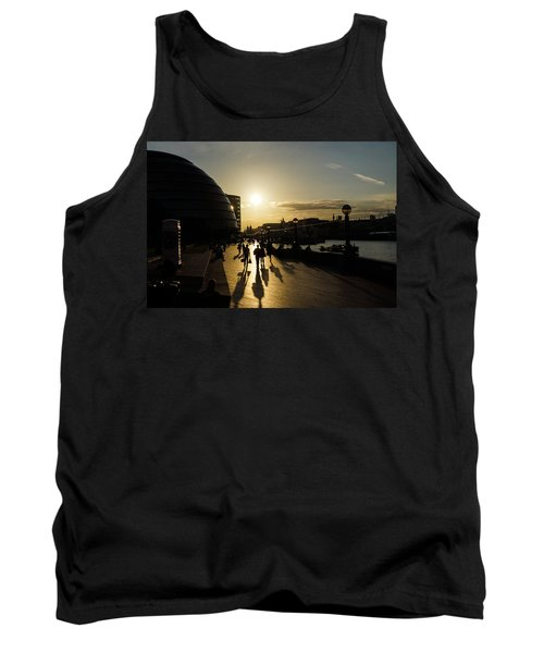 Tank Top featuring the photograph London Silhouettes  by Georgia Mizuleva