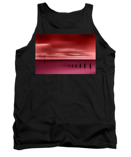 Long Red Sunset Tank Top
