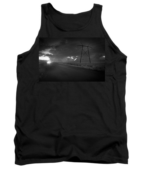 Tank Top featuring the photograph Long Road Home by Bradley R Youngberg