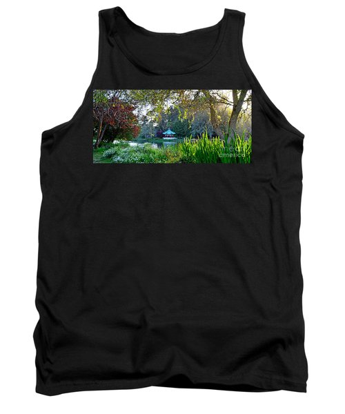 Looking Across Stow Lake At The Pagoda In Golden Gate Park Tank Top by Jim Fitzpatrick