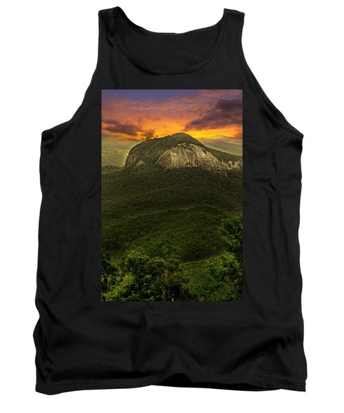 Looking Glass Rock North Carolina  Tank Top by Gray  Artus