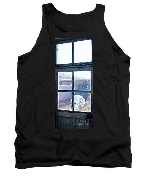 Tank Top featuring the photograph Looking Out The Kitchen Door In February by Ethna Gillespie