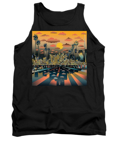 Los Angeles Skyline Abstract 2 Tank Top