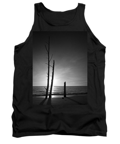Lovers Key Sunset Black And White One Tank Top