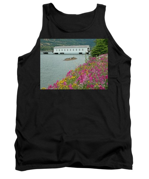 Tank Top featuring the photograph Lowell Covered Bridge by Nick  Boren
