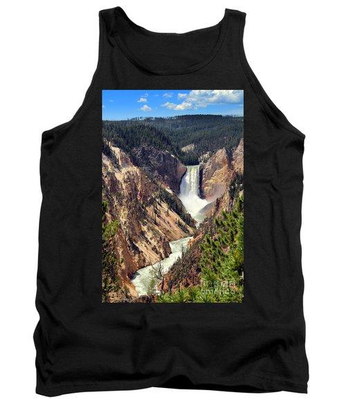 Lower Falls Of Yellowstone Tank Top