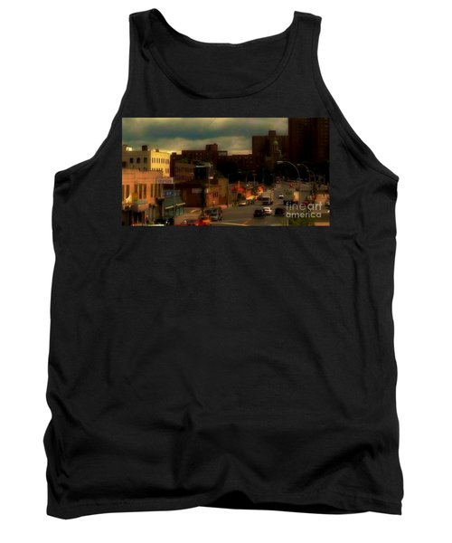 Tank Top featuring the photograph Lowering Clouds by Miriam Danar