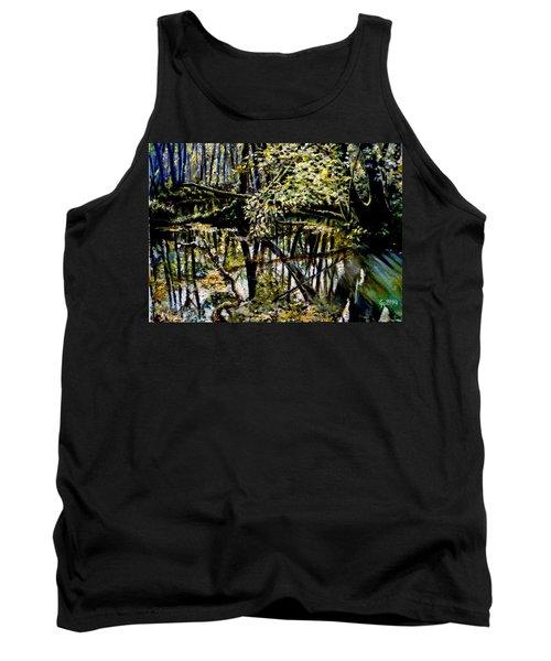 Lubianka-4 Mystery Of Swamp Forest Tank Top by Henryk Gorecki