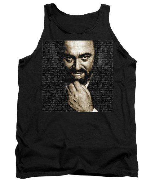 Luciano Pavarotti Tank Top by Tony Rubino