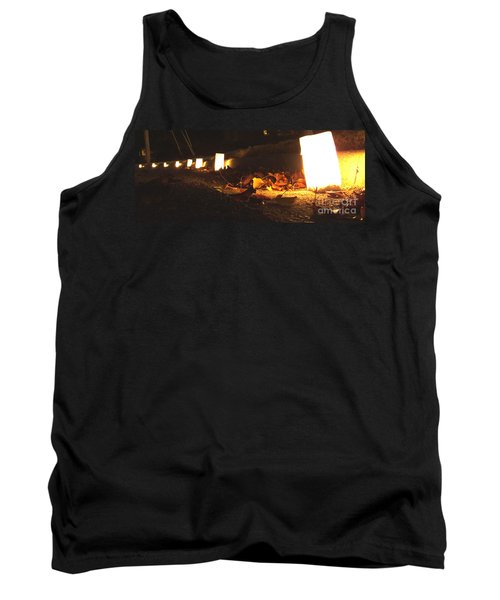 Tank Top featuring the photograph Luminaries by Andrea Anderegg