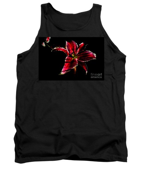 Tank Top featuring the photograph Luminet Darkness by Jessica Shelton