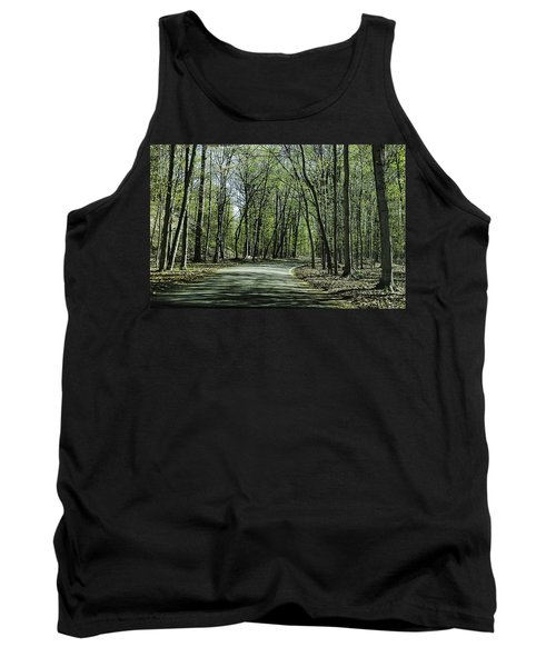 M119 Tunnel Of Trees Michigan Tank Top