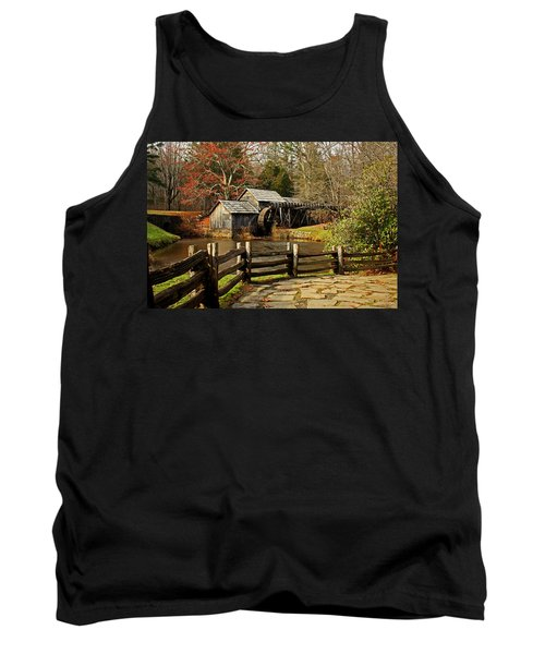 Tank Top featuring the photograph Mabry Mill by Suzanne Stout