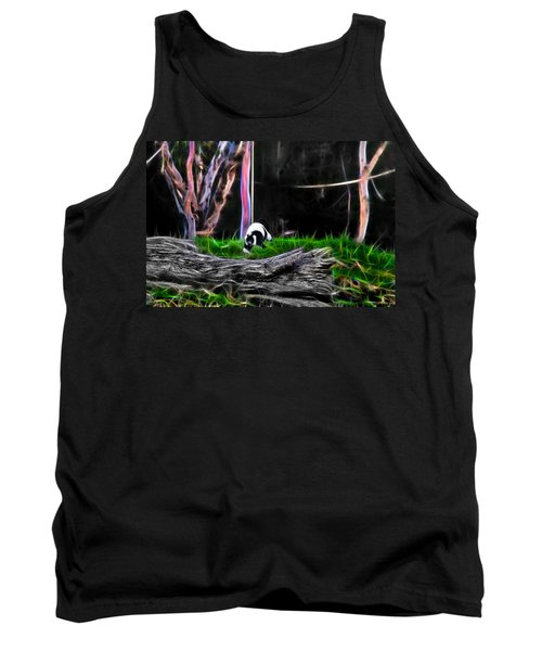 Walk In Magical Land Of The Black And White Ruffed Lemur Tank Top