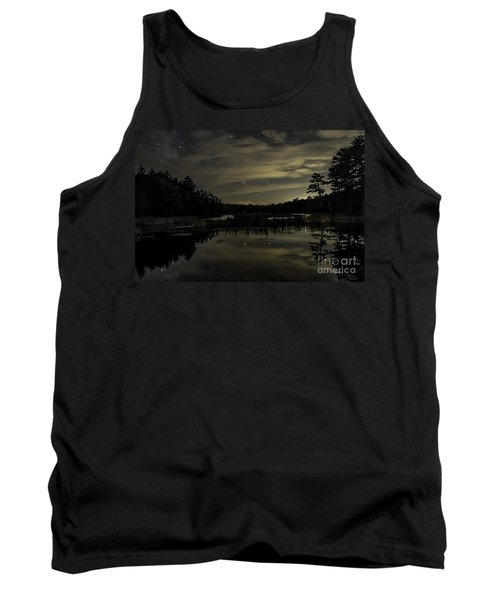 Maine Beaver Pond At Night Tank Top by Patrick Fennell