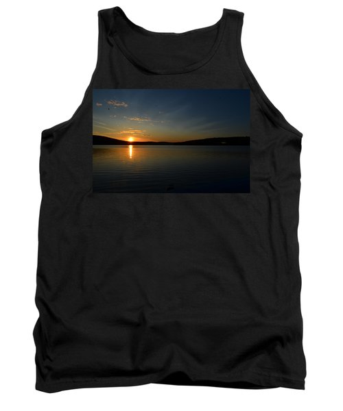 Tank Top featuring the photograph Maine Sunset by James Petersen