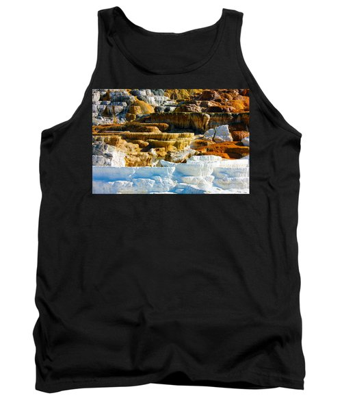 Mammoth Hot Springs Rock Formation No1 Tank Top
