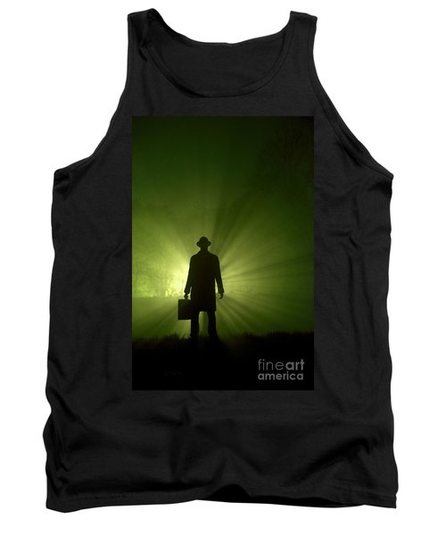 Tank Top featuring the photograph Man In Light Beams by Lee Avison