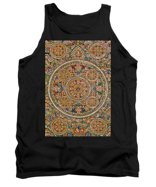 Mandala Of Heruka In Yab Yum And Buddhas Tank Top by Lanjee Chee