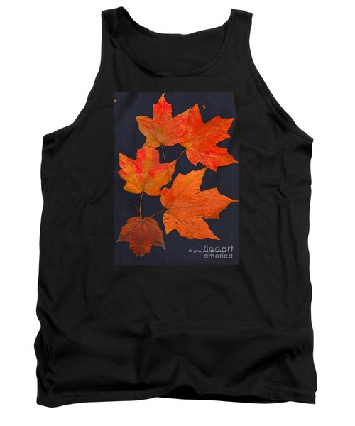 Tank Top featuring the photograph Maple Leaf Tag II by Joan Hartenstein