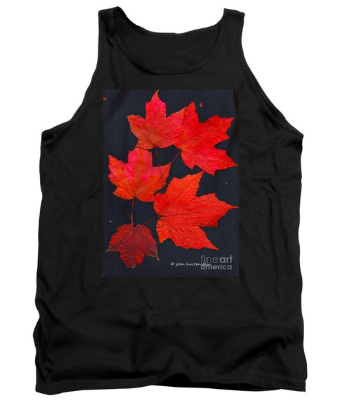 Tank Top featuring the photograph Maple Leaf Tag by Joan Hartenstein