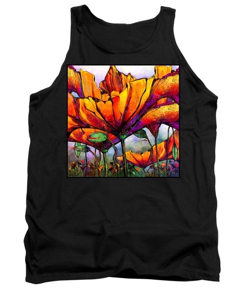 March Of The Poppies Tank Top