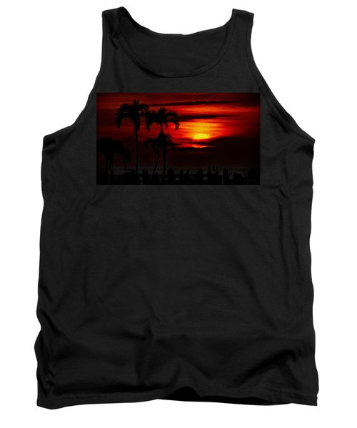 Tank Top featuring the photograph Marco Island Sunset 59 by Mark Myhaver