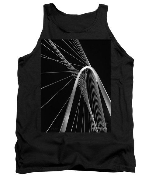 Margaret Hunt Hill Bridge Dallas Texas Tank Top by Robert ONeil
