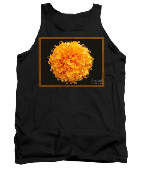 Marigold Magic Abstract Flower Art Tank Top