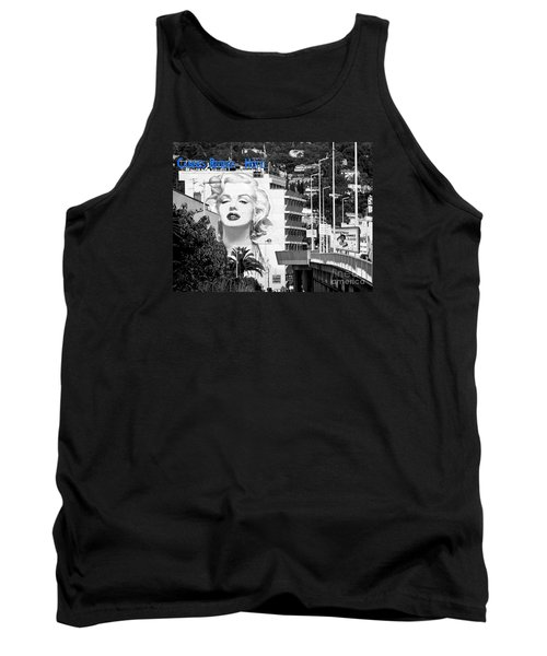 Tank Top featuring the photograph Marilyn In Cannes by Jennie Breeze
