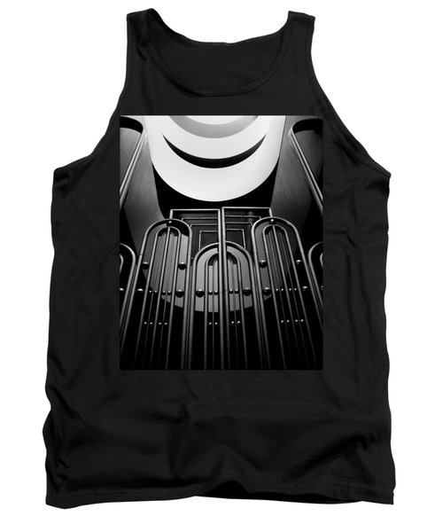 Tank Top featuring the photograph Marin County Government Complex Gate by Jeff Brunton