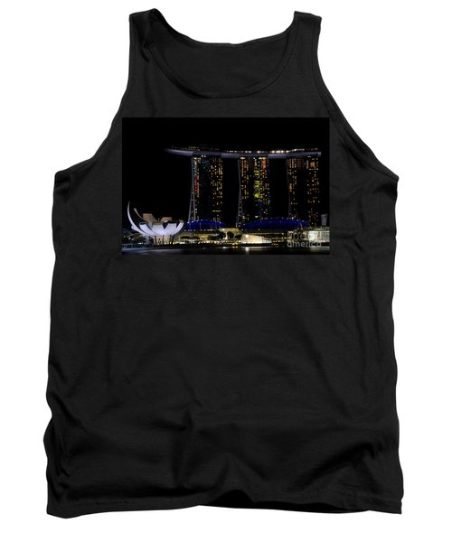 Marina Bay Sands Integrated Resort Hotel And Casino And Artscience Museum Singapore Marina Bay Tank Top by Imran Ahmed