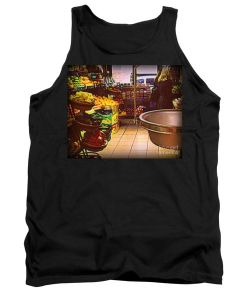Tank Top featuring the photograph Market With Bronze Scale by Miriam Danar