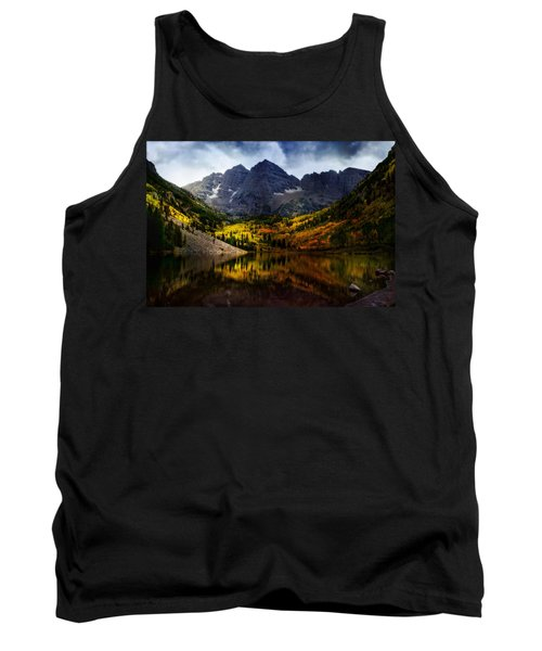 Tank Top featuring the photograph Maroon Bells - An American Icon by Ellen Heaverlo