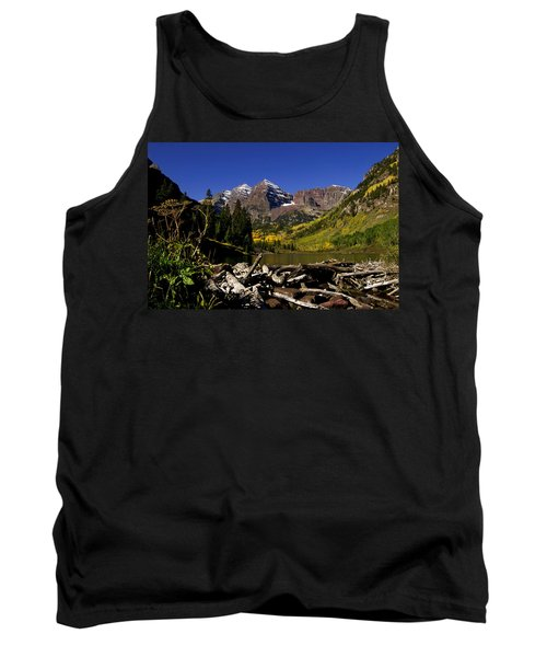 Tank Top featuring the photograph Maroon Bells by Jeremy Rhoades
