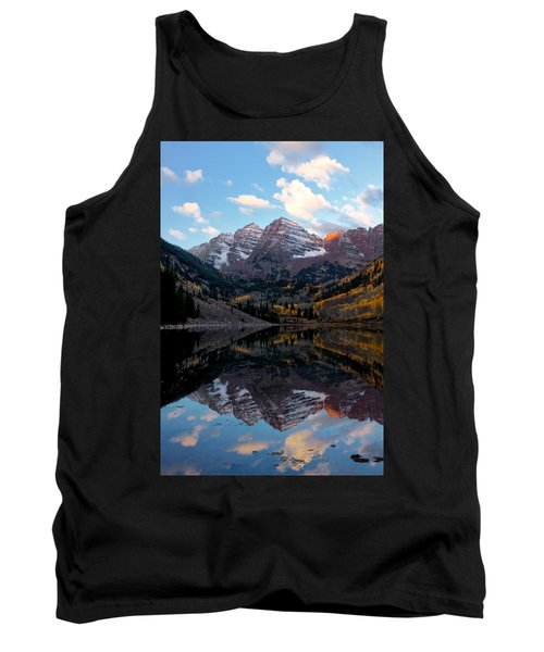 Tank Top featuring the photograph Maroon Bells by Ronda Kimbrow