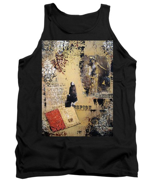 Tank Top featuring the painting Mata Hari by Debra Crank